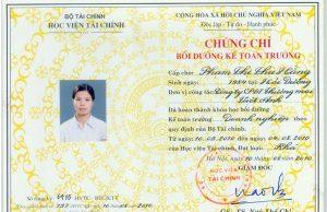 Khóa học kế toán trưởng. Đào tạo cấp chứng chỉ kế toán Bộ TC 02