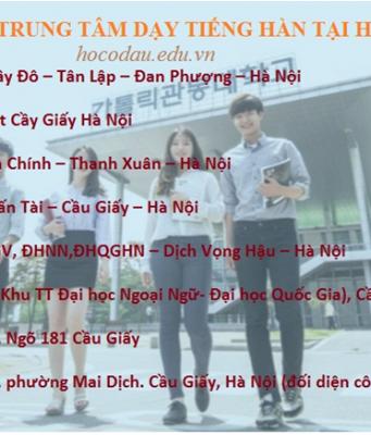 Tiếng Hàn giao tiếp cơ bản trình độ sơ cấp tại Hà Nội 01