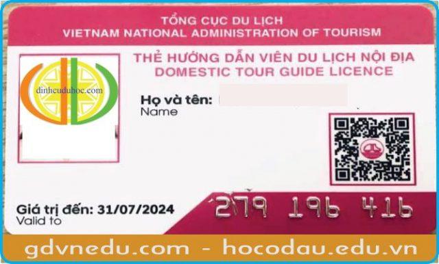 Thẻ hướng dẫn viên du lịch nội địa